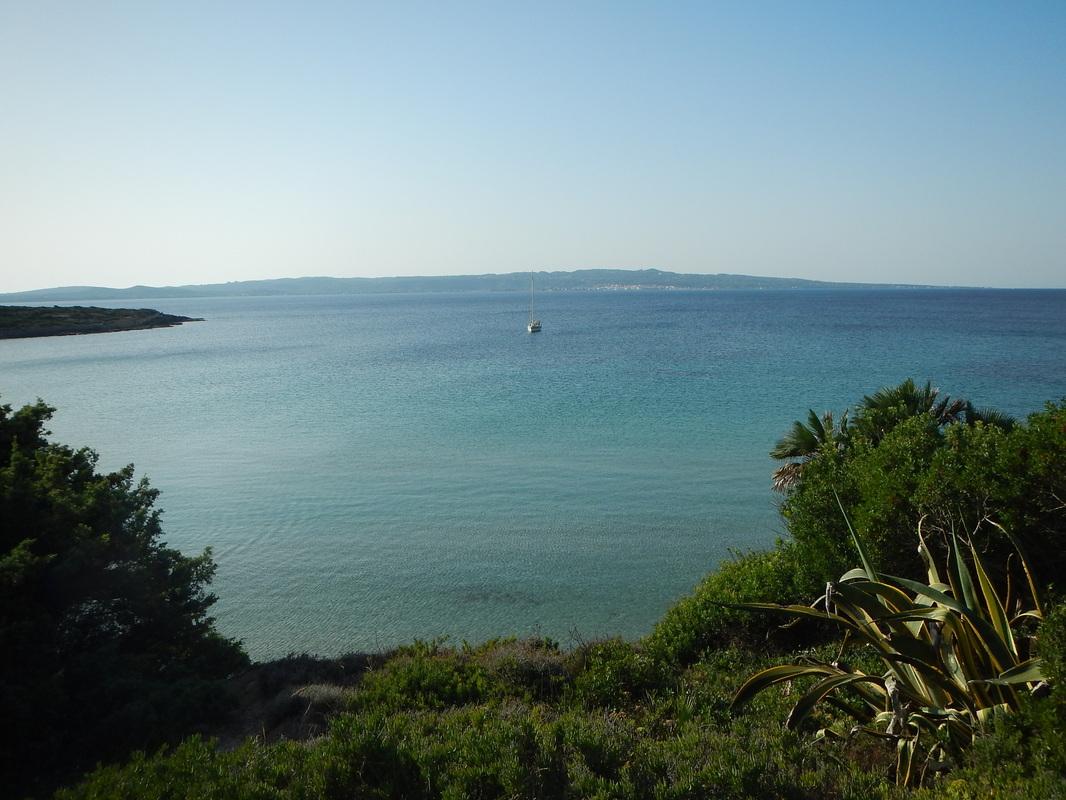 Arrivo a Calasetta, Sardegna