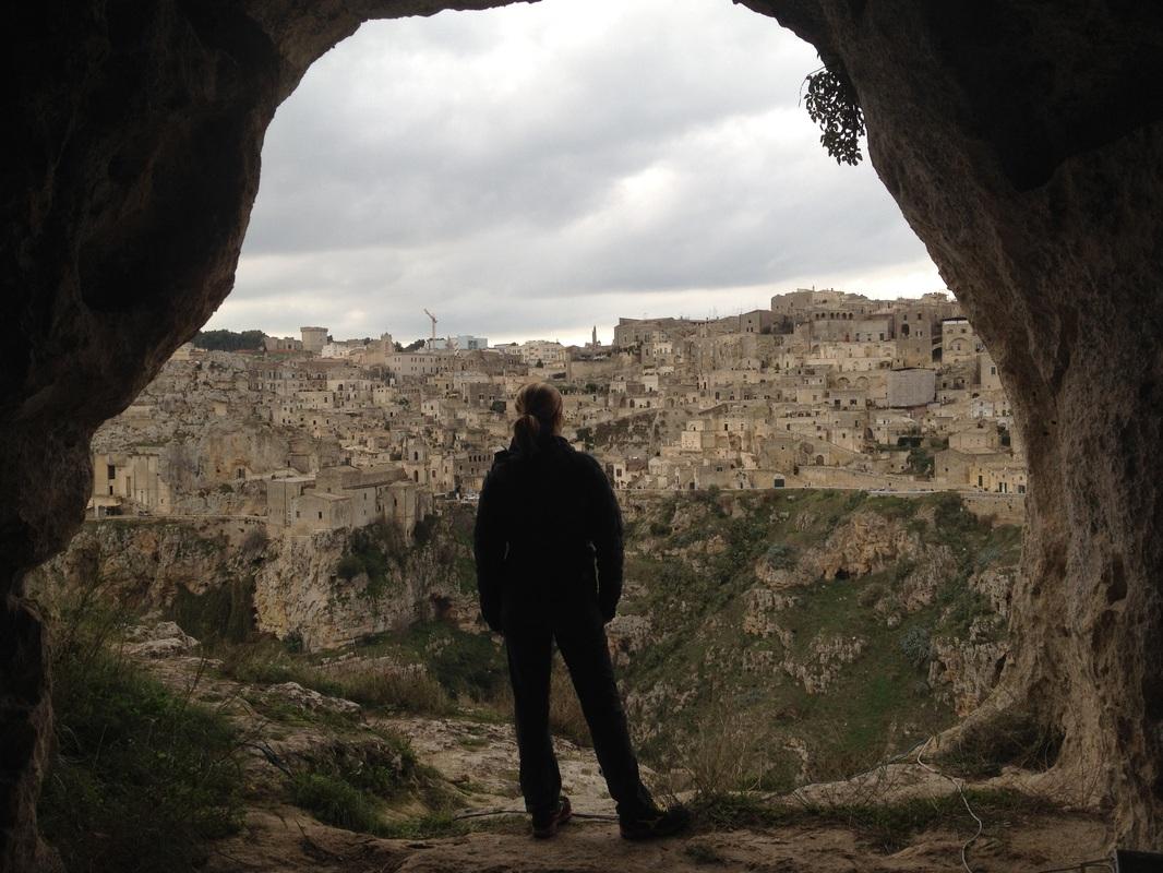 Matera vista dalla grotta