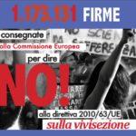Stop vivisection: consegnate oltre 1milione di firme contro la vivisezione