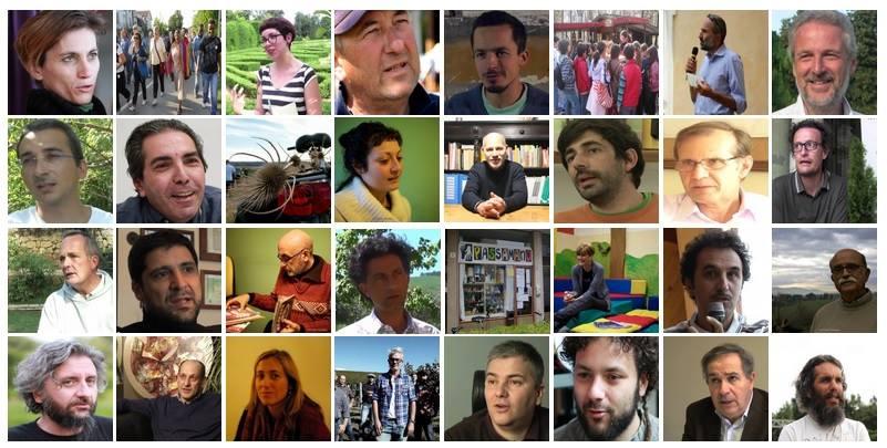 I volti di alcuni protagonisti dell'Italia che Cambia che vi abbiamo presentato in questi anni