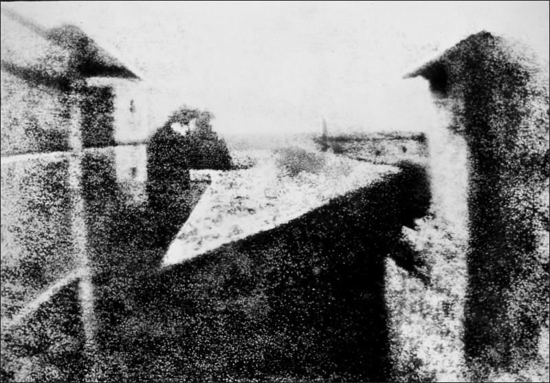 """""""Vista dalla finestra di Le Gras"""" di J.P. Niépce"""