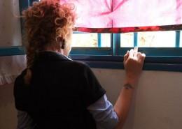 Ilaria Venturini Fendi durante la sua prima visita al Carcere di Rebibbia
