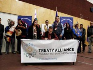Il momento della firma del Trattato