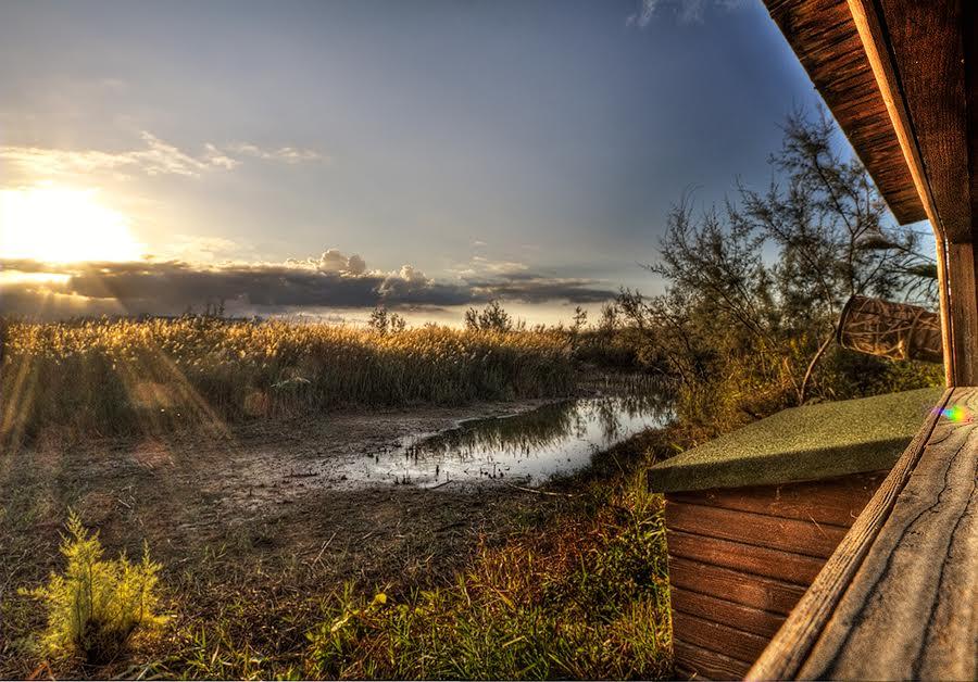 Panorama del Centro Habitat Mediterraneo della Lipu dal terzo capanno - Foto di Marco De Silvi