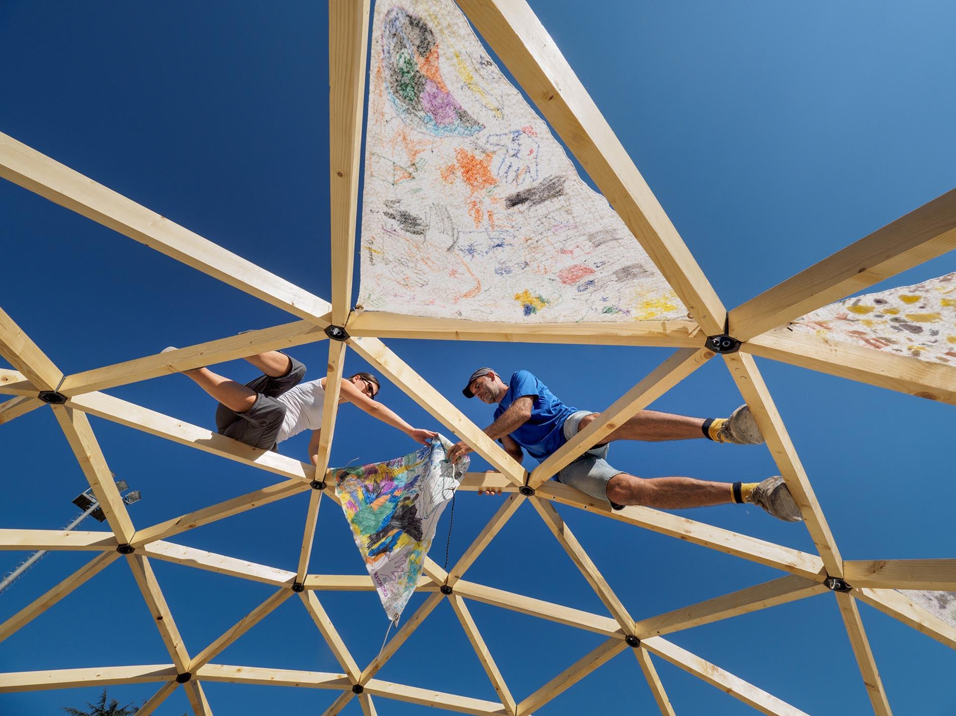 Bioedilizia come si costruisce una cupola geodetica - Come si costruisce una casa ...