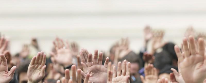 crowd-hands
