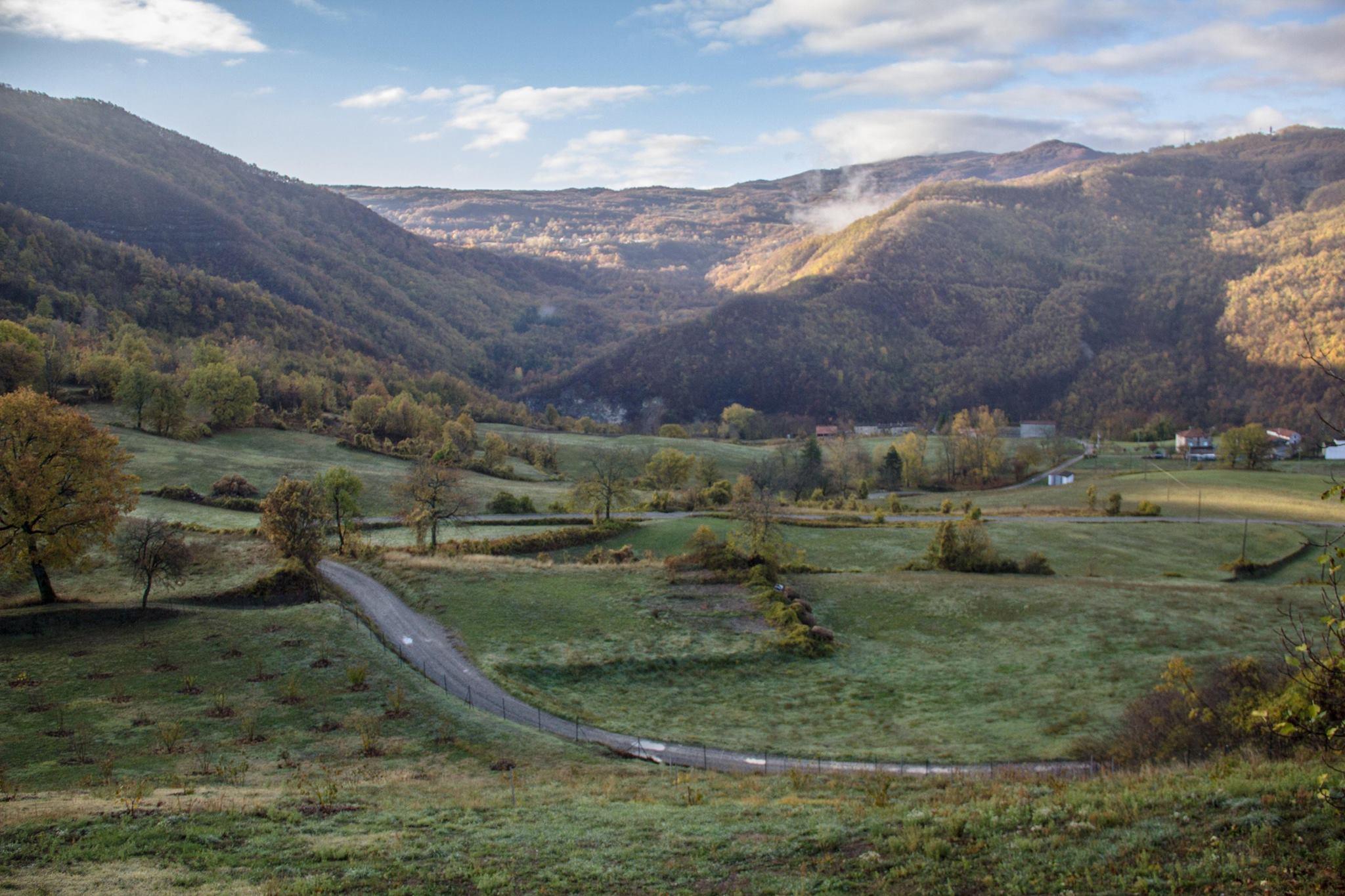 Veduta della valle dall'ecovillaggio