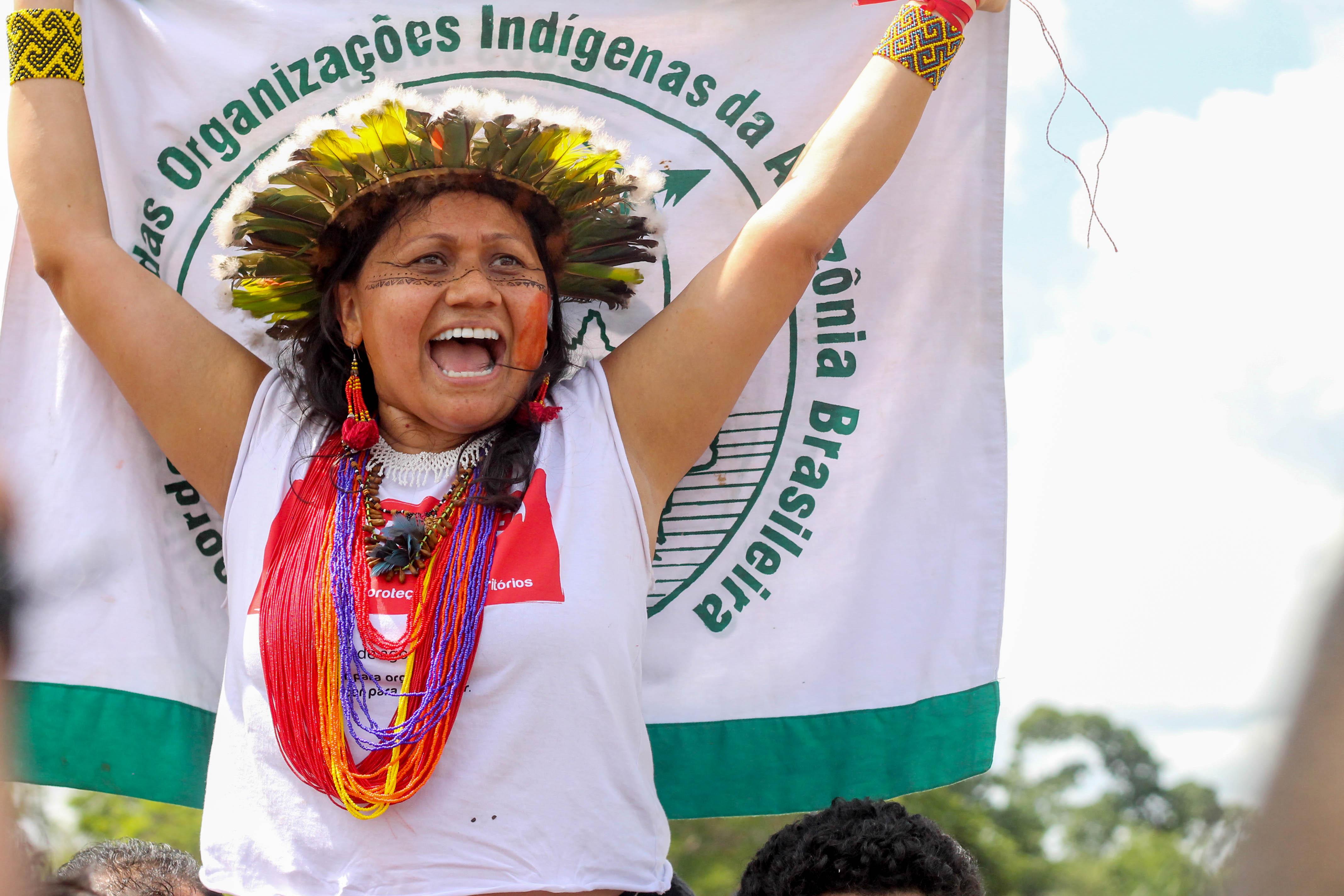 Francinara Barè, leader indigena, Coordinatrice della COIAB, Confederazione Delle Organizzazioni Indigene dell'Amazzonia Brasiliana (Foto Greenpeace)