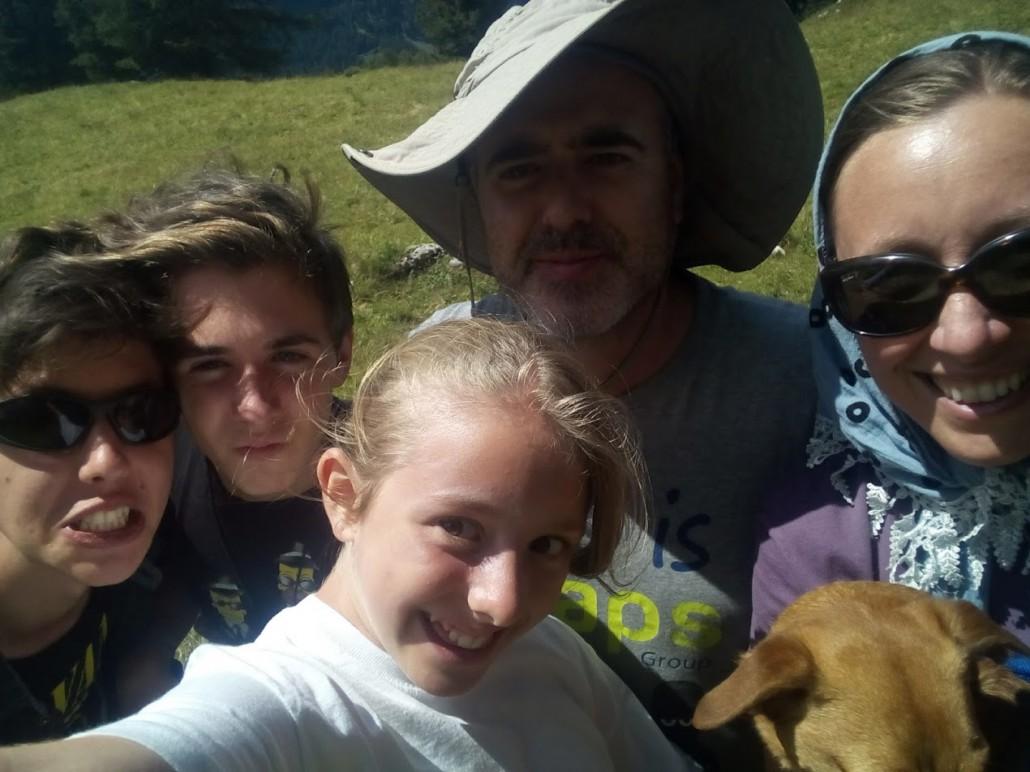 Giancarlo e la sua famiglia