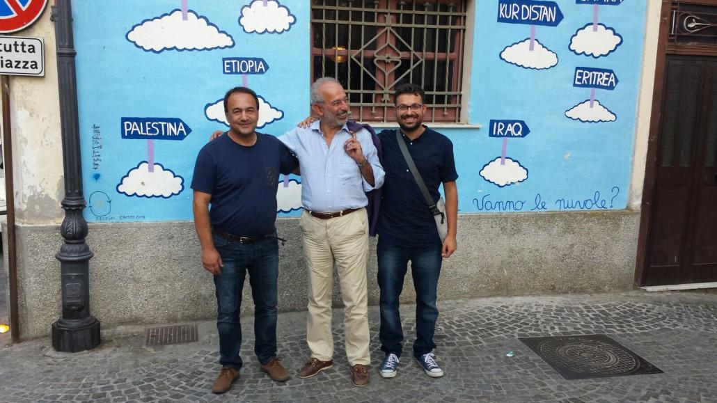 Giovanni Maiolo (a destra) e Domenico Lucano accolgono Gad Le