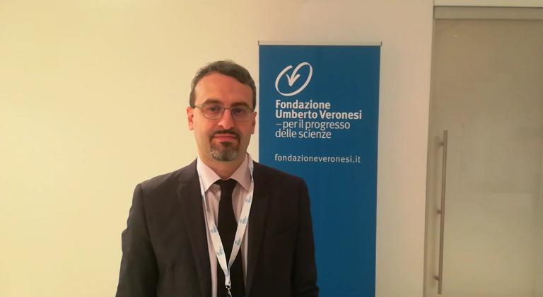 Francesco Vignarca in occasione della 10ª conferenza mondiale sulle disuguaglianze globali della Fondazione Veronesi