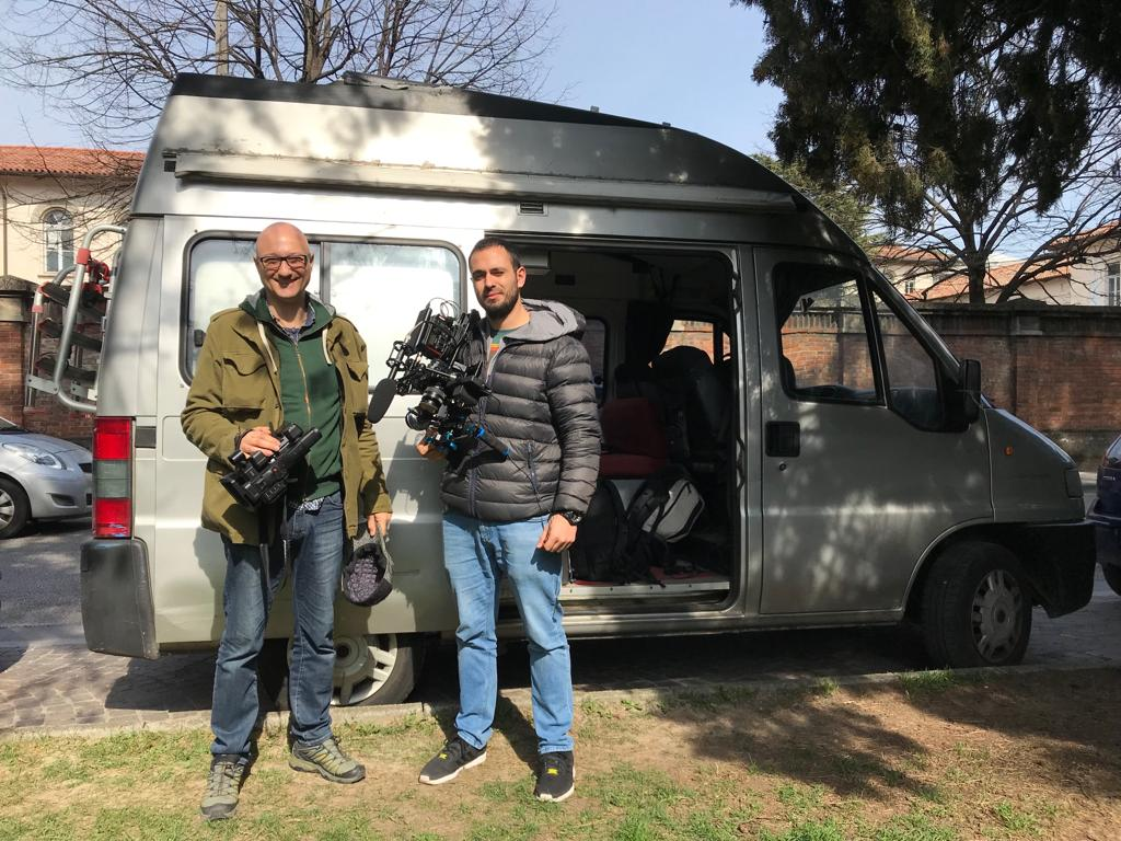 Ezio Maisto e Luca Bonfigli a Udine per il documentario su Fridays For Future