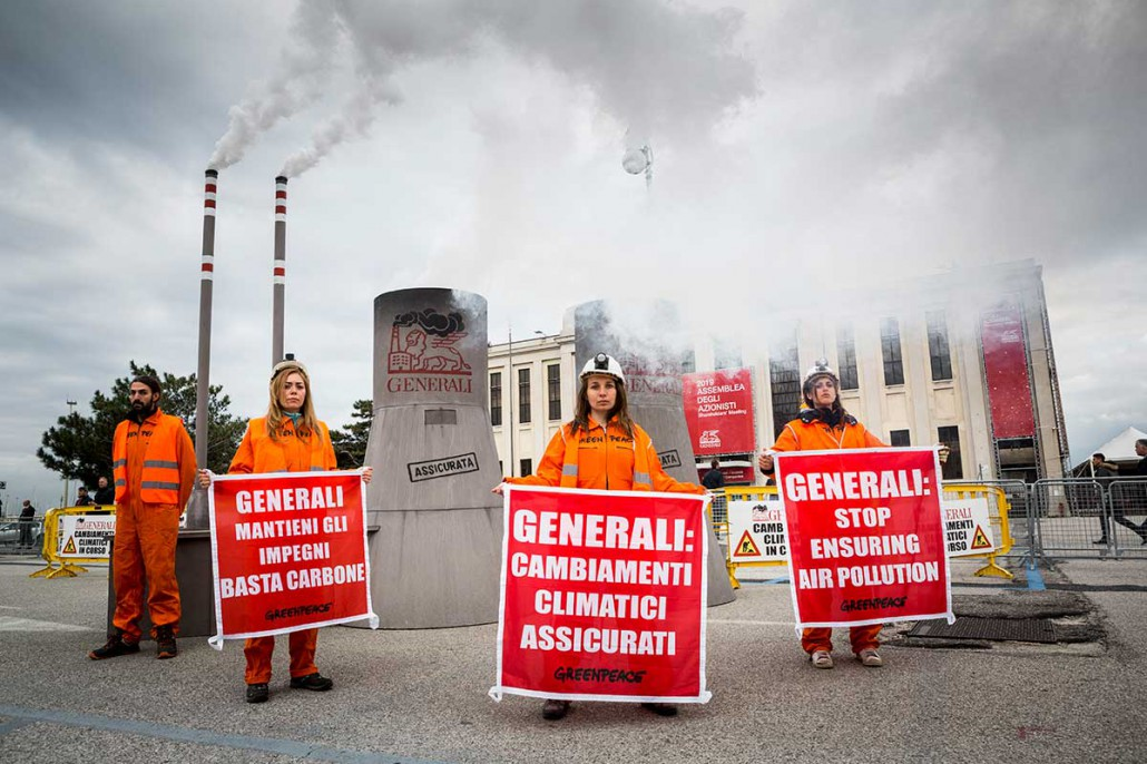 La protesta di Greenpeace (foto di Francesco Alesi)