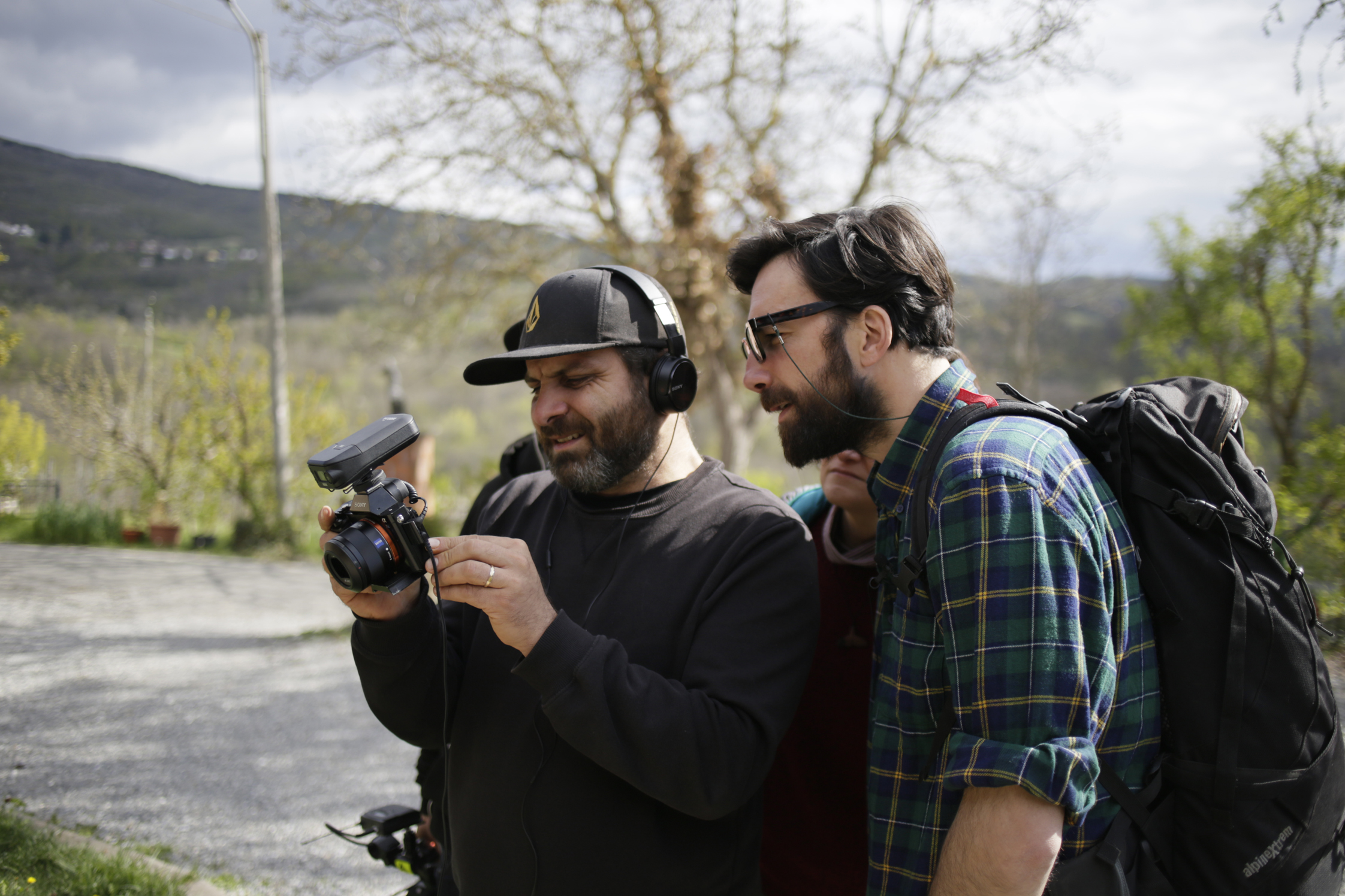 Il regista Cosimo Bruzzese con Maurizio Carucci (foto di Eugenio Soliani)