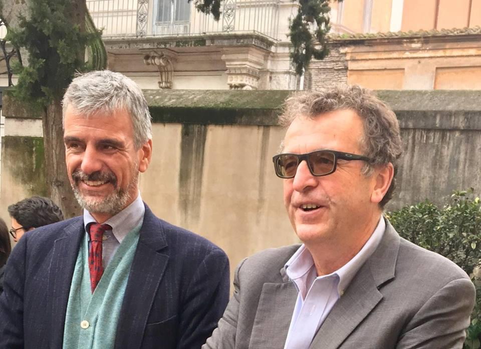 I due giuristi Ugo Mattei e Alberto Lucarelli, rispettivamente Presidente e Vicepresidente del Comitato Rodotà
