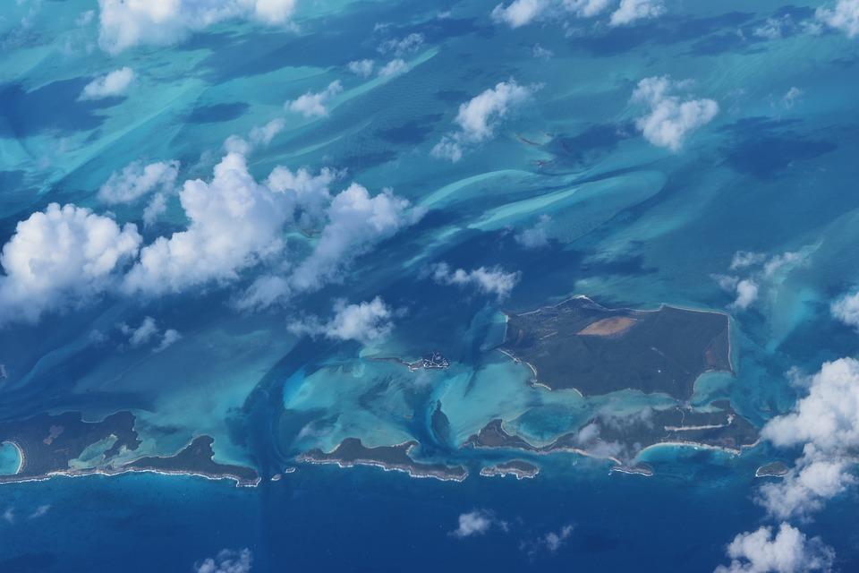 Le Bahamas viste dall'alto