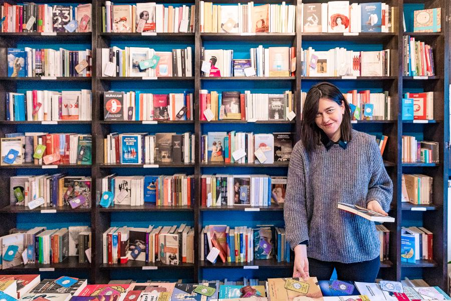 Elena Molini, ideatrice della Piccola Farmacia Letteraria di Firenze