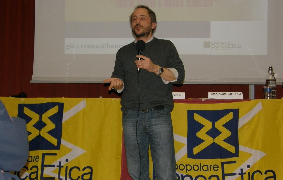 Andrea Baranes, vicepresidente di Banca Etica