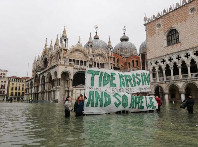 """Acqua alta a Venezia: """"La catastrofe climatica è qui e ora"""""""