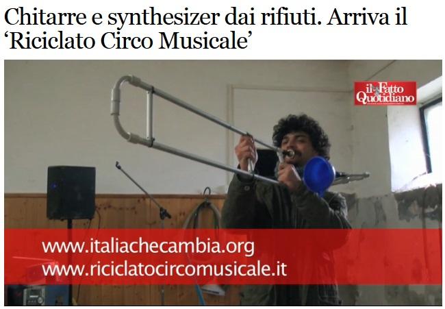 riciclo circo musicale