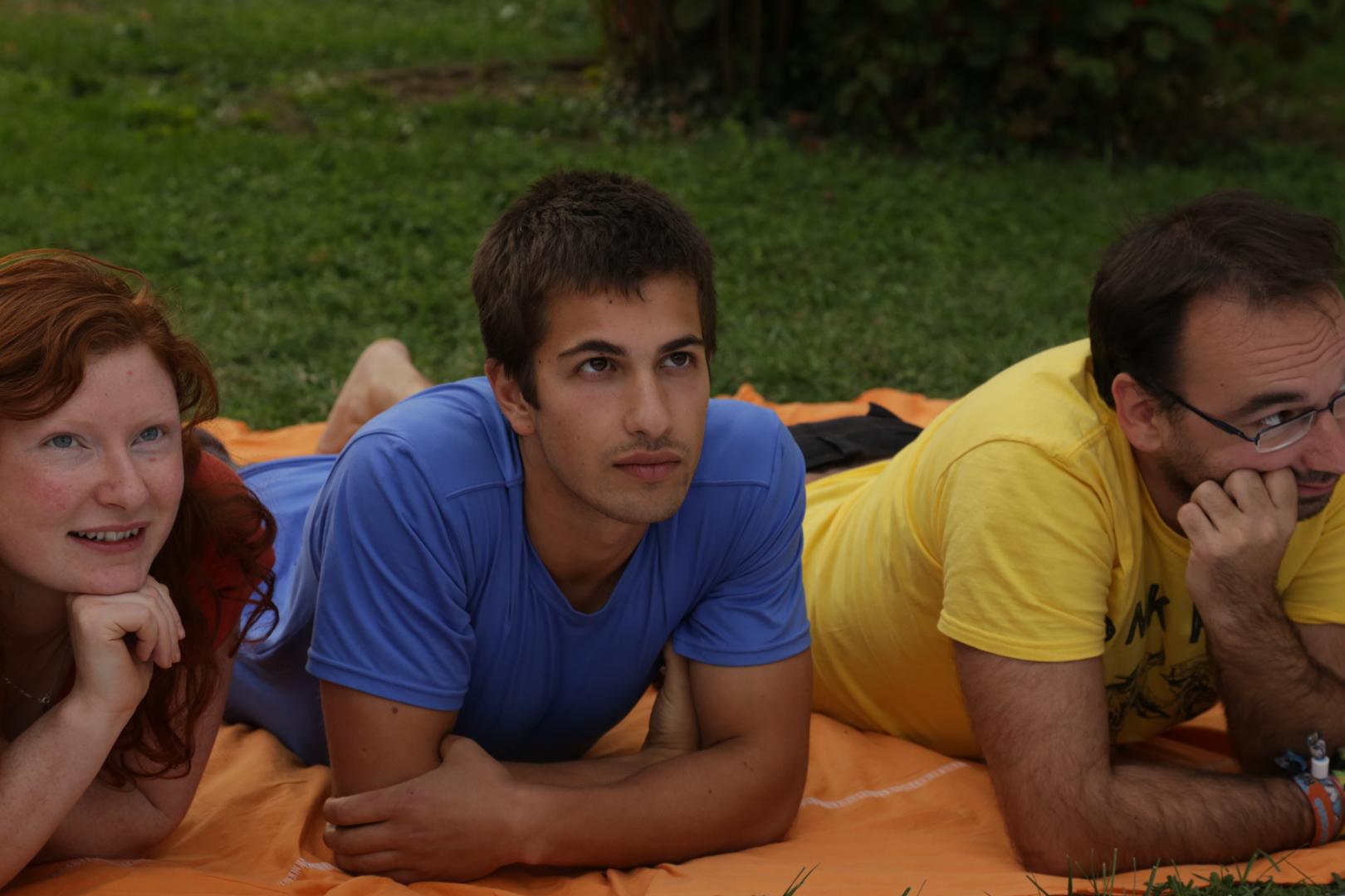Anna, Doug e Christjan durante il Dragon Dreaming