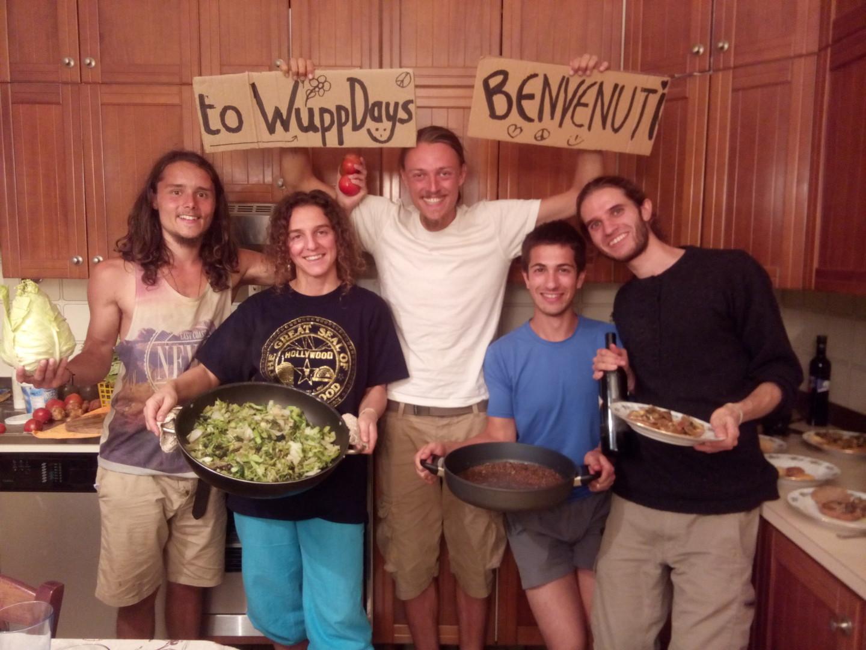 Da destra: Adrean, Isabella, Raphael, Doug, Martin