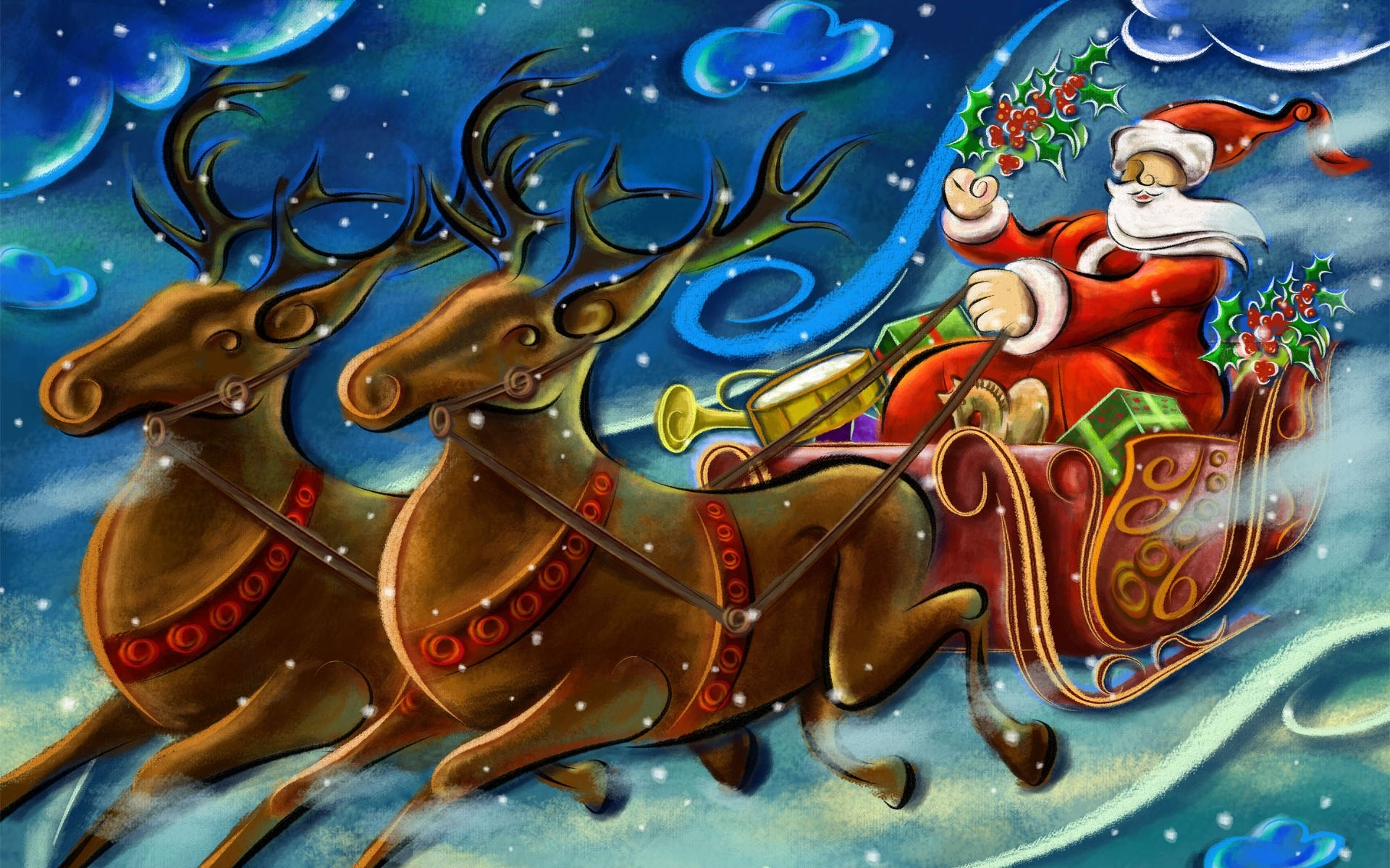 santa-and-reindeer