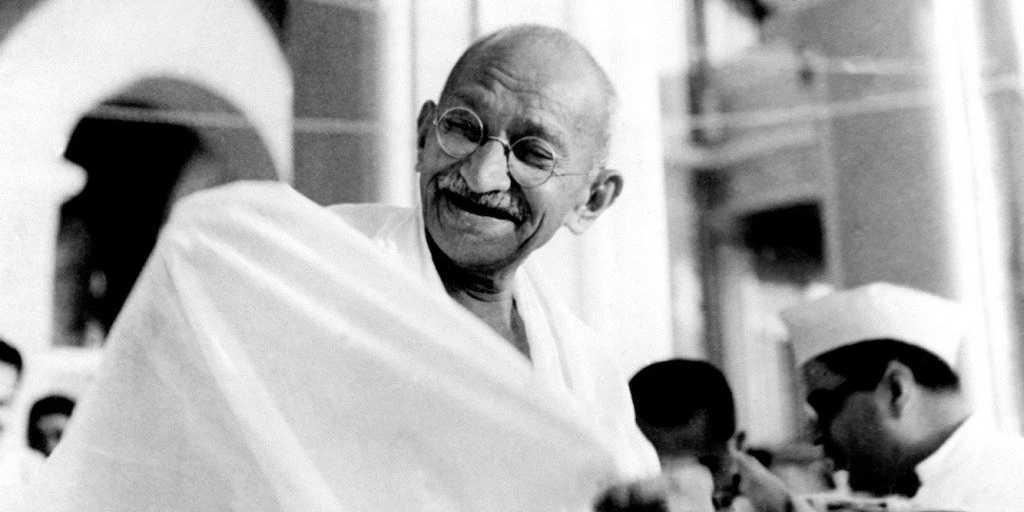 Gandhi è l'ispiratore dei movimenti per la pace, i diritti umani e le libertà civili di tutto il mondo