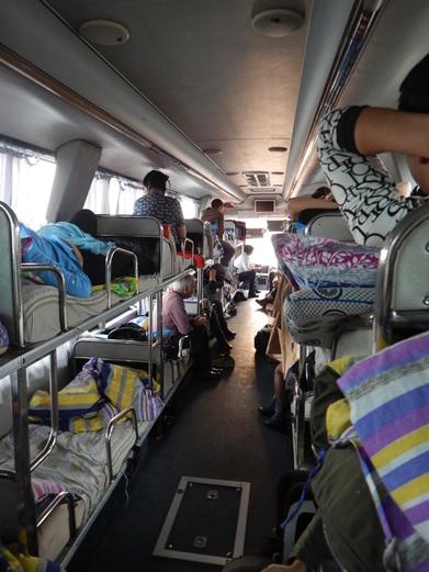 L'autobus con i letti tra Almaty e Urumqi