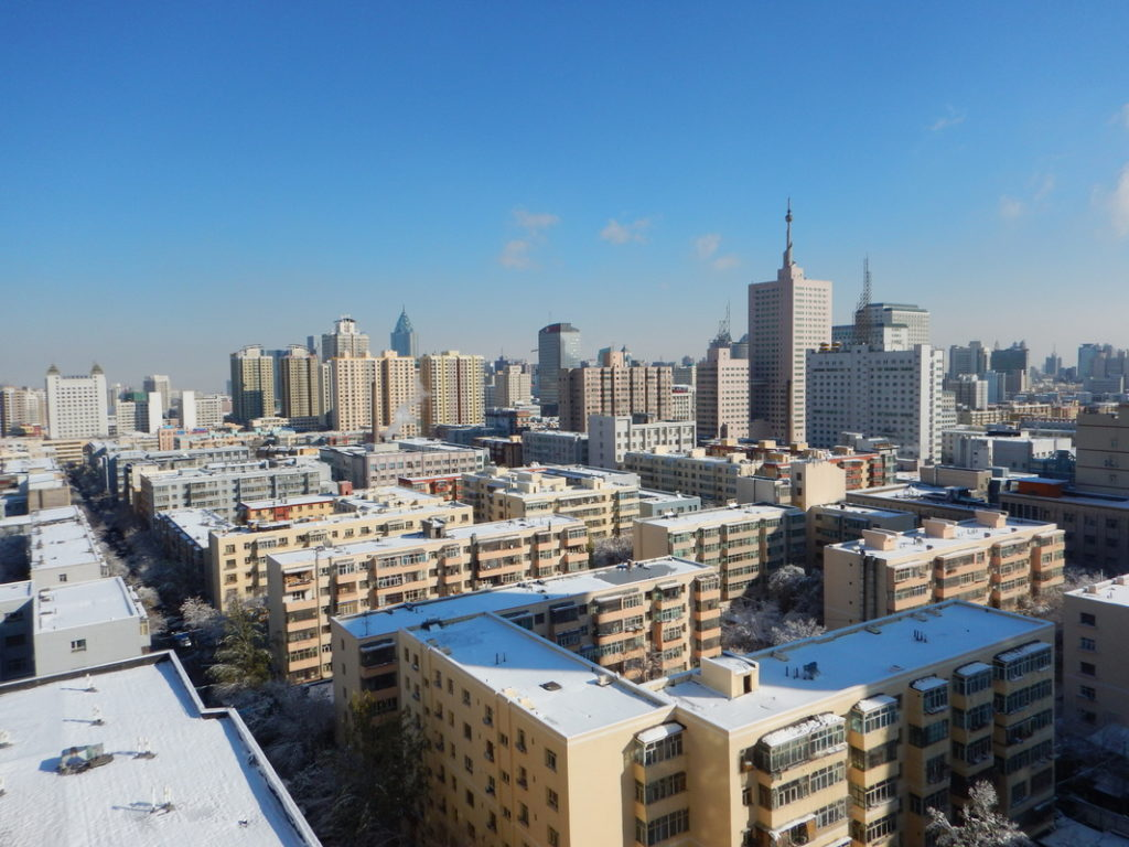 Urumqi dopo la tempesta di neve
