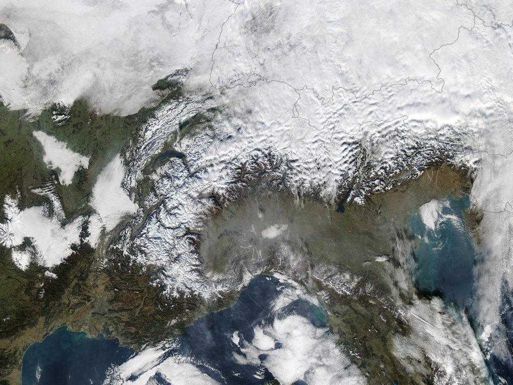 La regione d'Europa più colpita da inquinamento atmosferico risulta essere la Pianura Padana