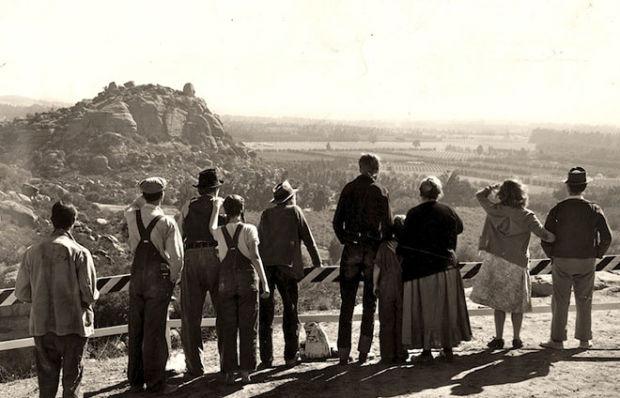 """Un'immagine da """"Furore"""",  film del 1940 diretto da John Ford e tratto dall'omonimo romanzo di John Steinbeck"""