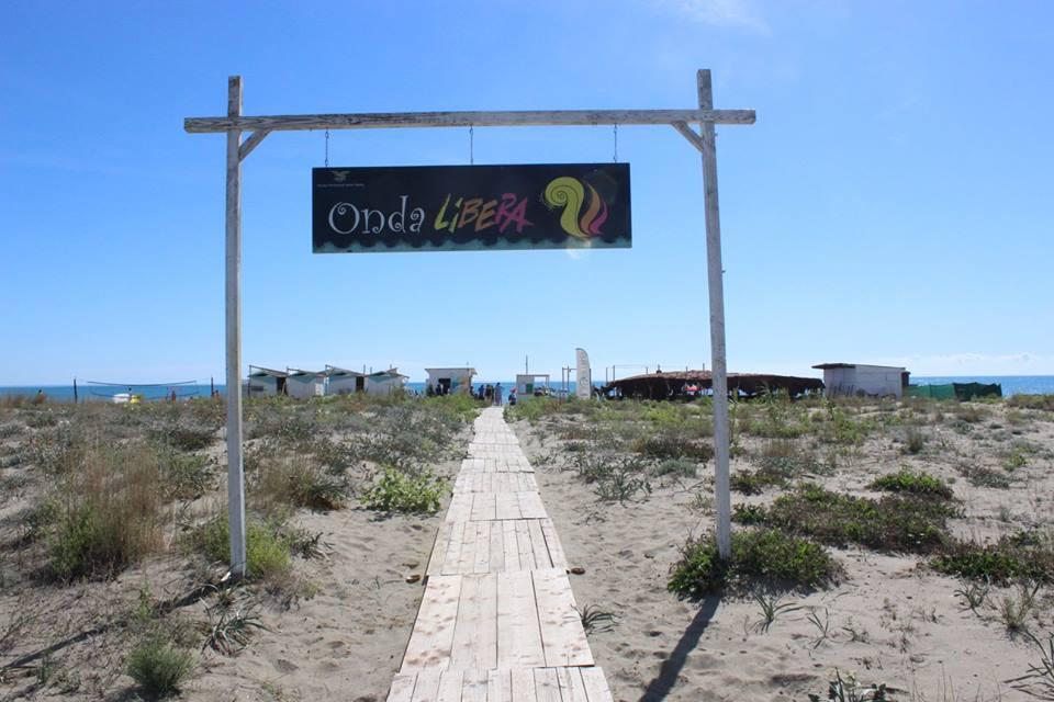 La spiaggia Onda Libera