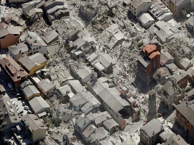Amatrice dopo il terremoto del 24 agosto 2016