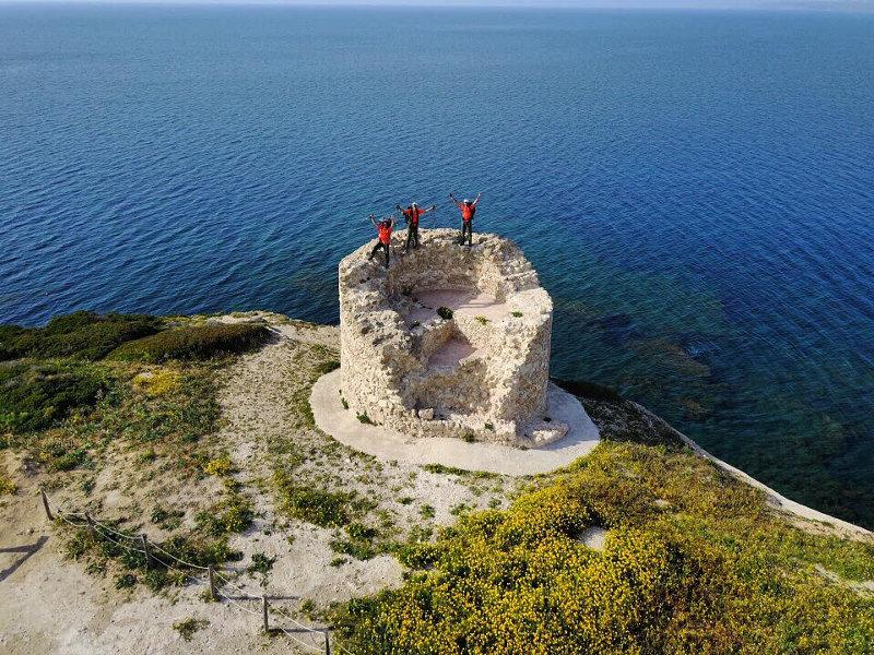 I tre camminatori a Capo Mannu