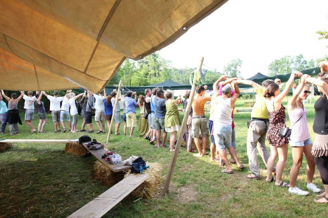 Un gioco condotto dai Piumani al raduno estivo RIVE 2016
