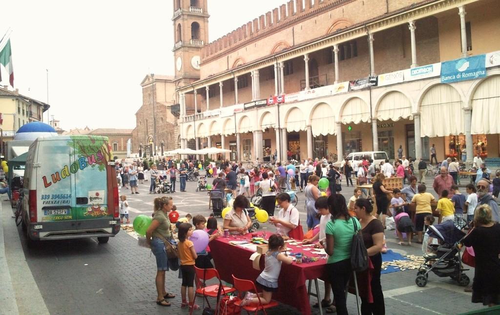 La piazza di Faenza