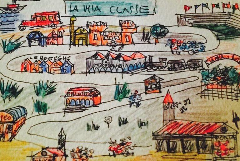 Un disegno di Giuseppe Campagnoli, tratto daLa Città educante. Manifesto della educazione diffusa