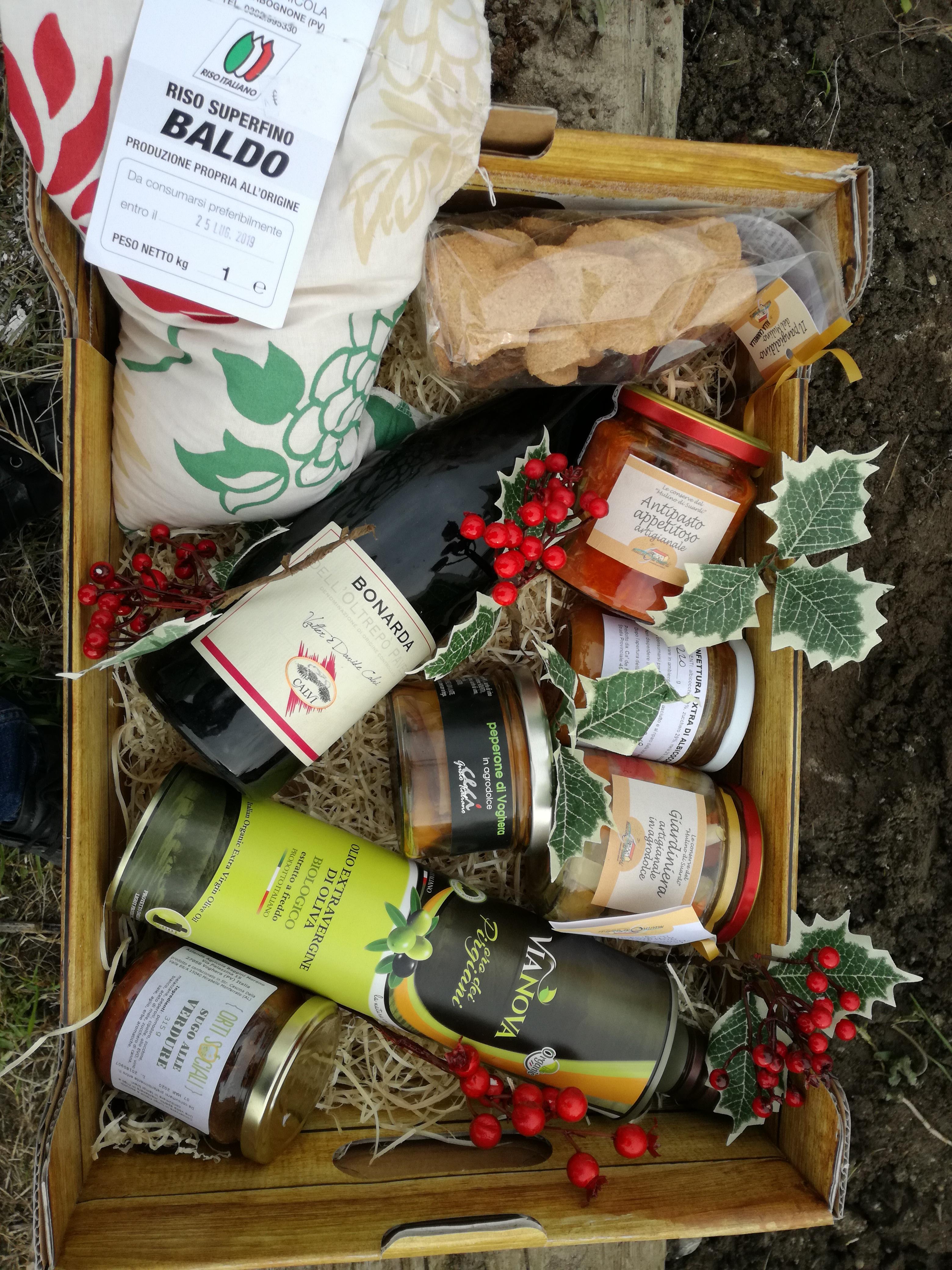 Cesto natalizio agricoltura sociale Pavia