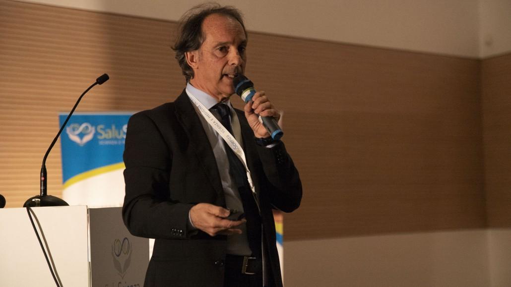 Il dott. Danilo Sirigu, radiologo ospedaliero, al convegno SaluScienza