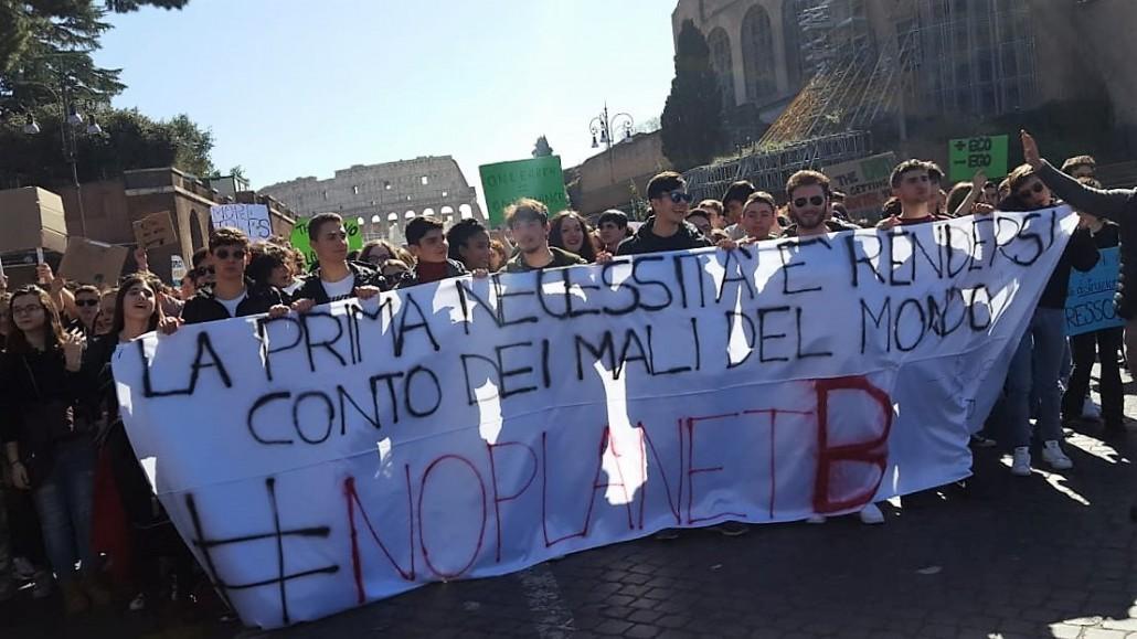 Lo sciopero per il clima a Roma