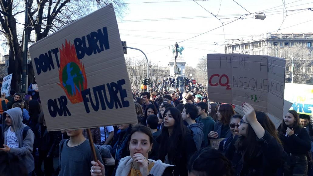 Lo sciopero per il clima a Milano