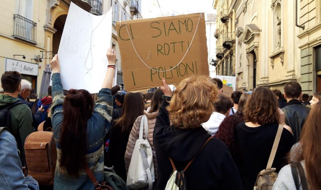 Lo sciopero per il clima a Torino