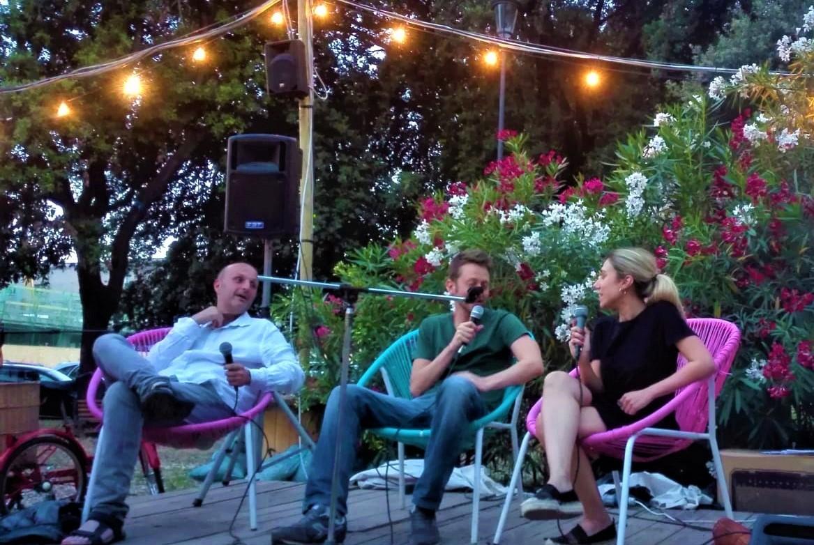Danilo Casertano, Andrea Degl'Innocenti e Alessandra Profilio durante il nostro primo appuntamento ad Habicura