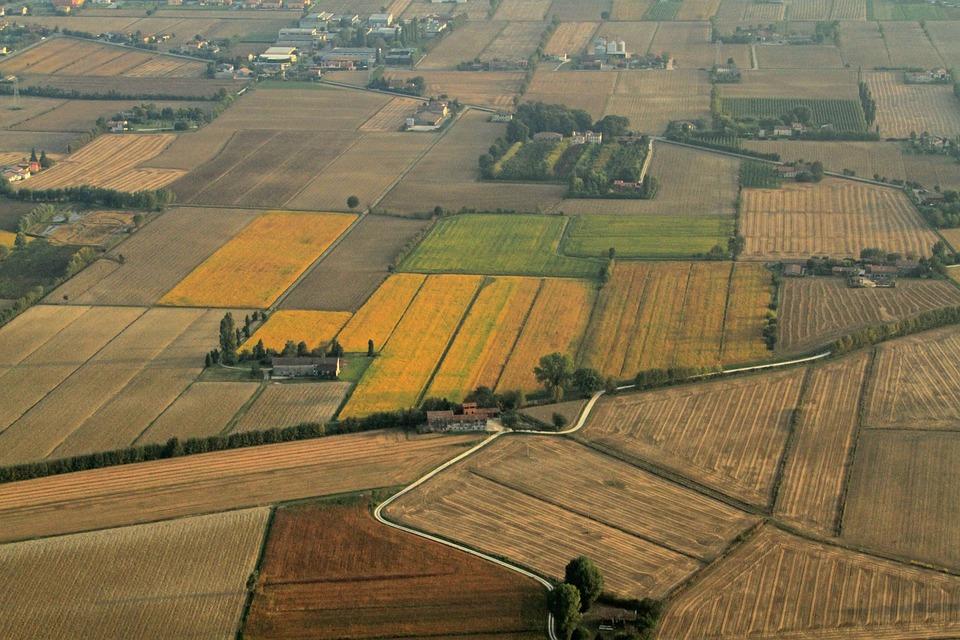 Campi del Veneto visti dall'aereo