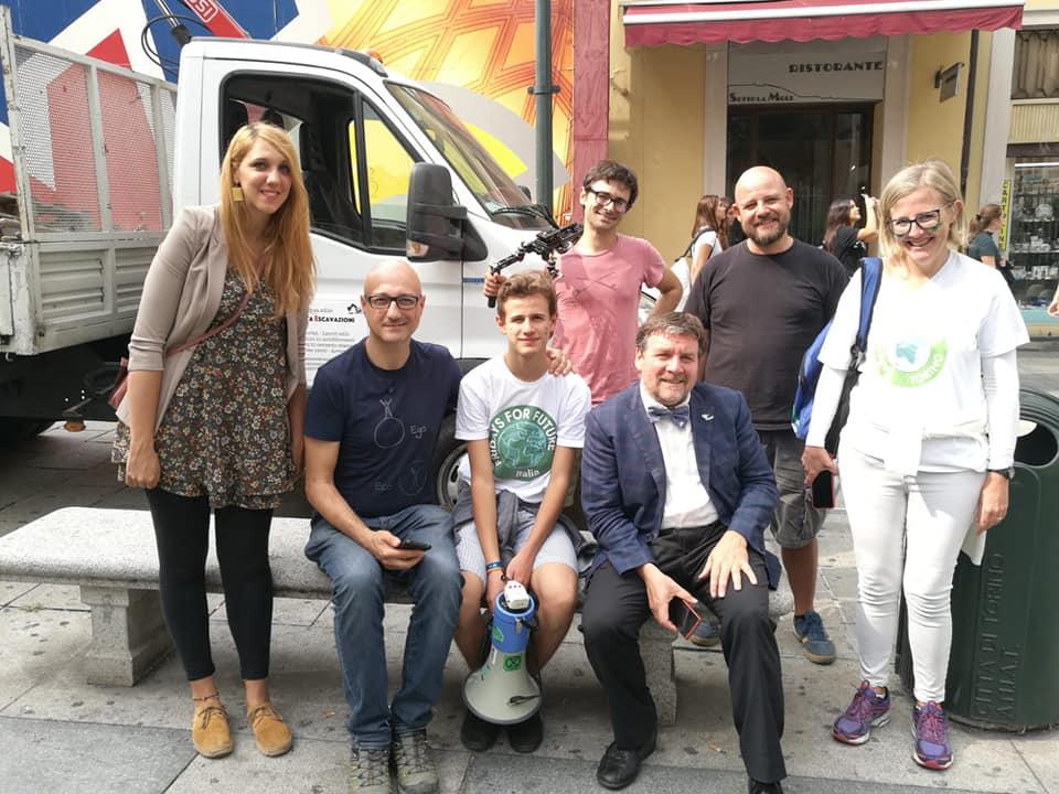 La nostra troupe con Luca Mercalli