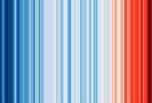 Warming Stripes: l'emergenza climatica spiegata in un'immagine