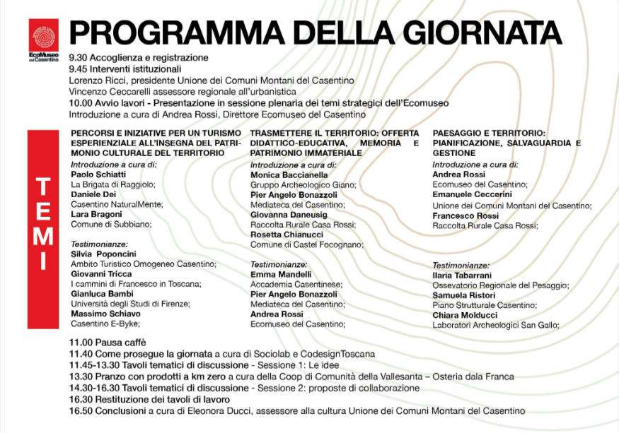 Programma Casentino Telling 7 dicembre 2019