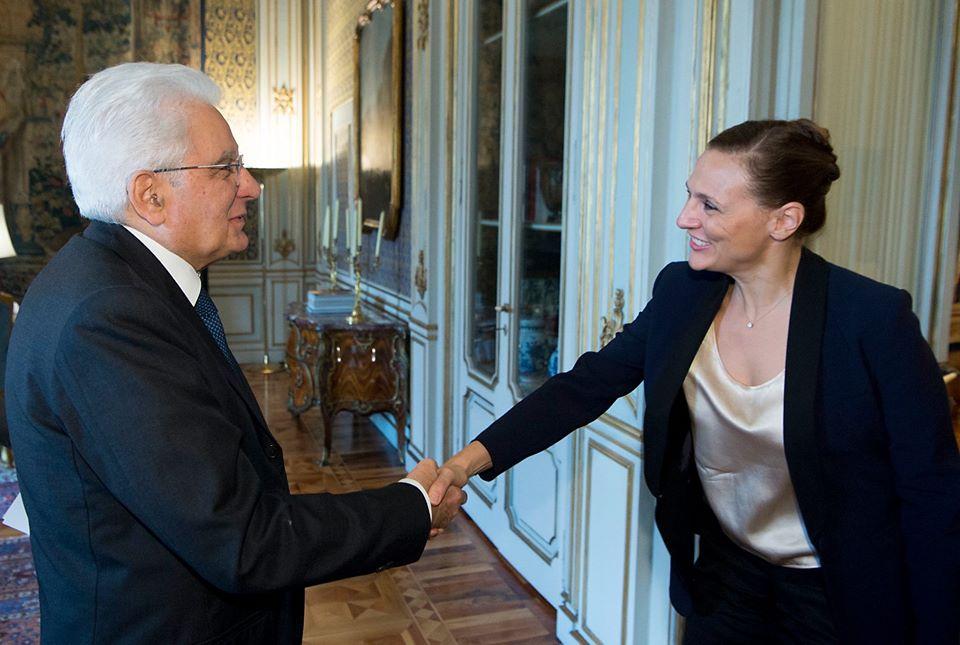 foto voltolina con presidente mattarella
