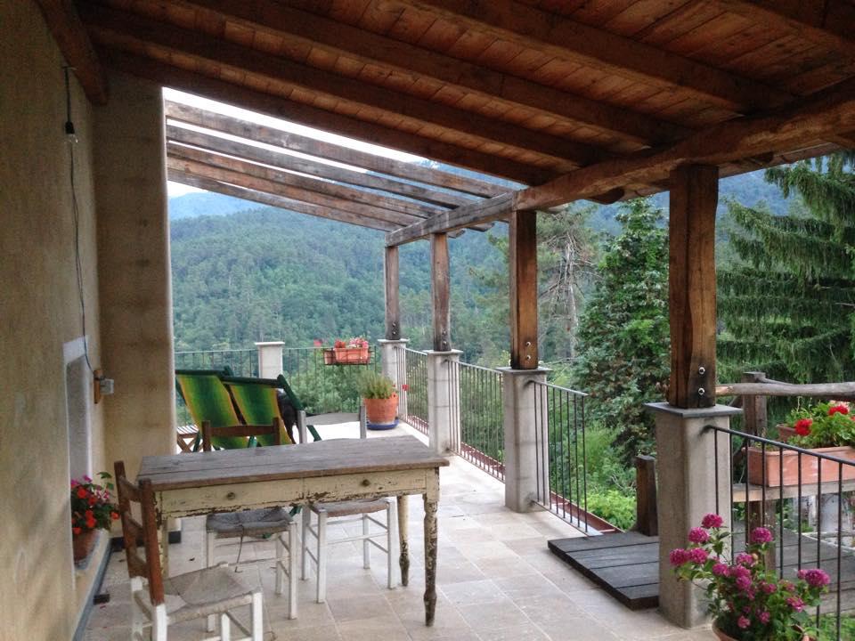 terrazza camere casa di paglia